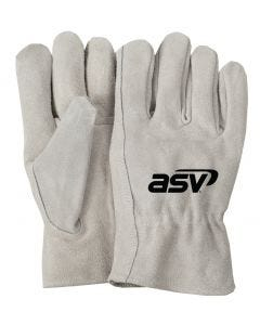 Gray Leather Gloves